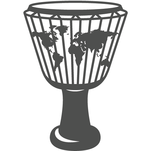 A djembe percussion instrument, representing World genre of music