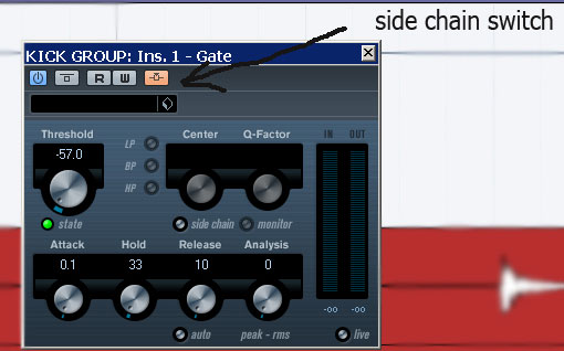 Inserting a side chain gate to KICK GROUP